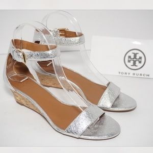 🆕Tory Burch Savannah 45 Wedge Sandal Ankle Strap